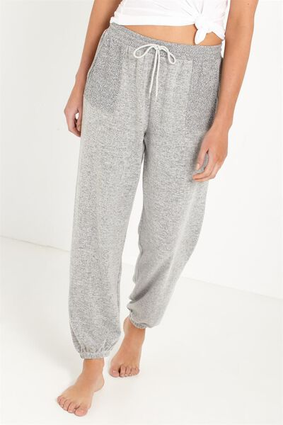 Super Soft Relaxed Track Pants, GREY MARLE