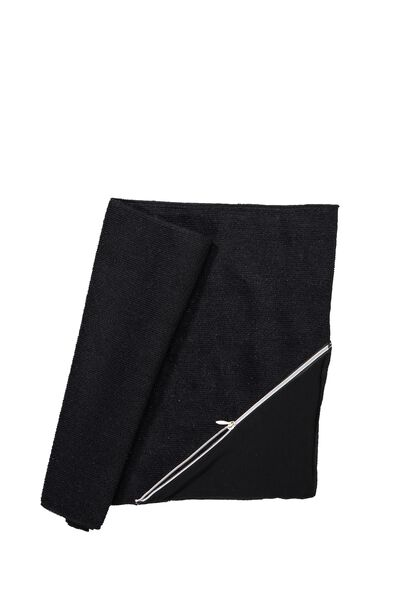 Active Zip Towel, BB BLACK