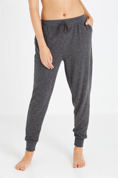 Super Soft Slim Track Pants, CHARCOAL MARLE