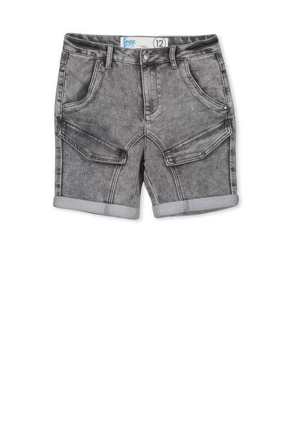 Ross Flat Pocket Short, ASH