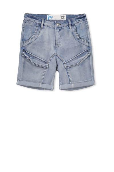 Ross Flat Pocket Short, MID INDIGO