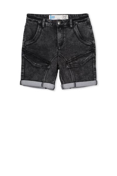 Ross Flat Pocket Short, BLACK