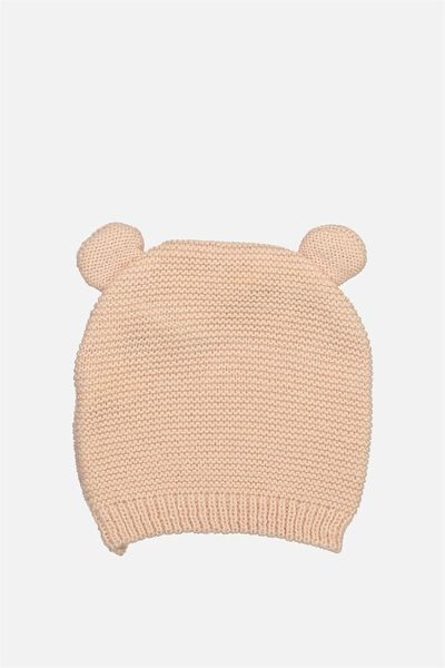 Baby Knit Beanie, PALE PINK