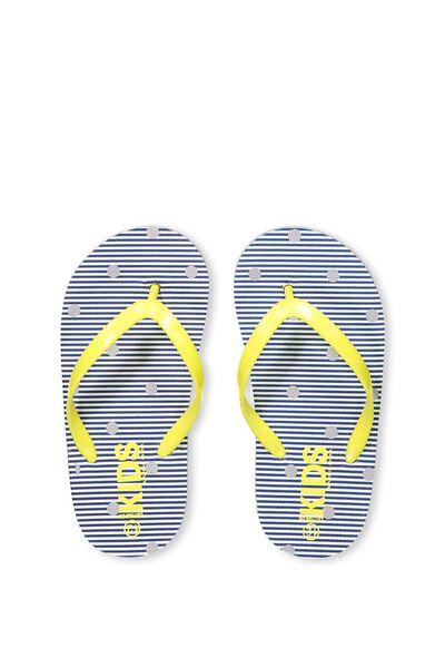 Printed Flip Flop, G STRIPE & SPOT