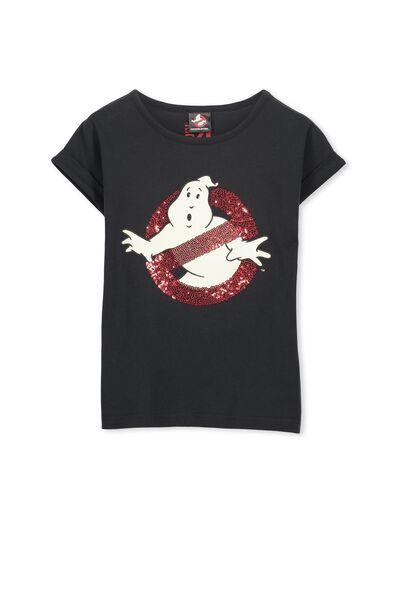 Girls Short Sleeve Halloween Tee, GHOST BUSTERS/PHANTOM