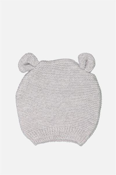 Baby Knit Beanie, CLOUD MARLE