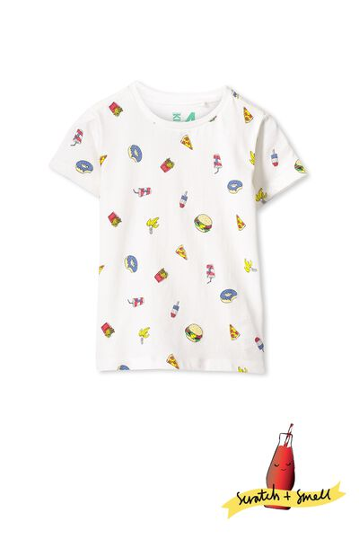 Scratch And Smell Ss Tee, VANILLA/JUNKFOOD YARDAGE