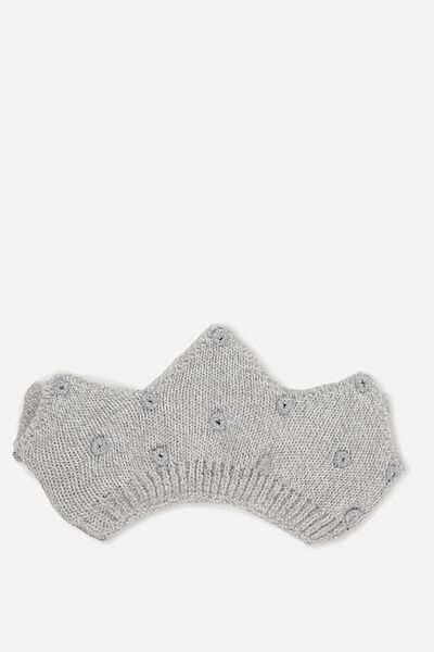Baby Knitted Crown, GREY MARLE