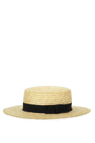 Charleston Hat, BLUSH BLACK