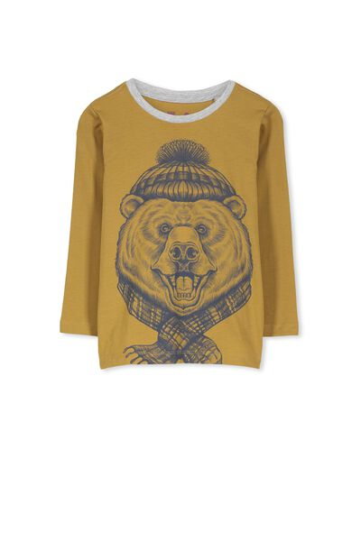 Tom Ls Tee, MEG MUSTARD/BEAR