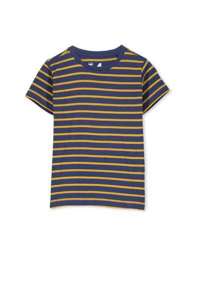 Max Short Sleeve Tee, CAPTAIN BLUE/GOLDEN STRIPE