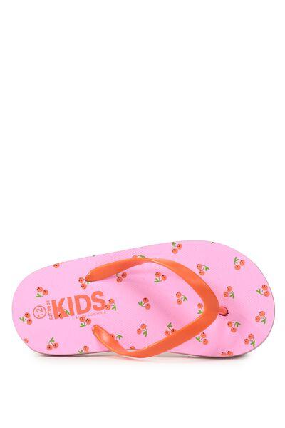 Printed Flip Flop, G MINI CHERRIES