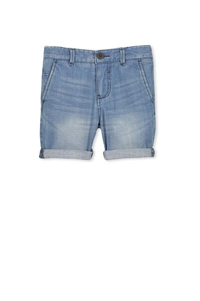 William Walk Short, LIGHT DENIM