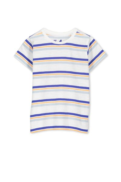 Max Short Sleeve Tee, BLUE/ORANGE STRIPE