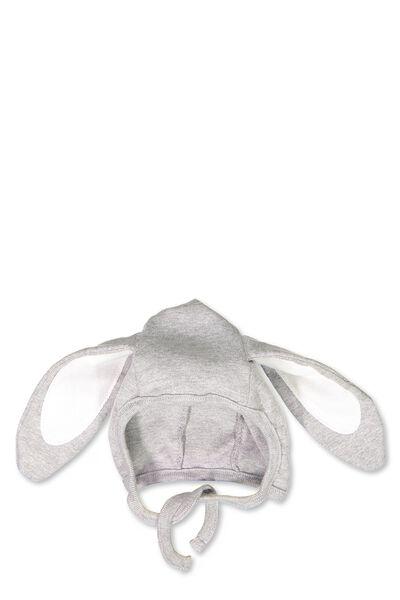 Lightweight Bunny Bonnet, LIGHT GREY MARLE