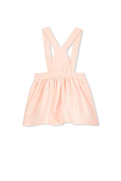 Sally Pinafore Skirt, POWDER PINK/CRITTER