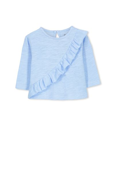 Felicity Frill Long Sleeve Top, EXCLUSIVE BLUE