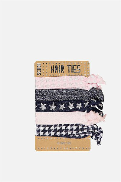 Knot Messy Hairties, GINGHAM GLITTER