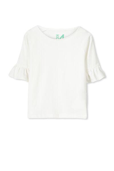 Ferne Long Sleeve Top, VANILLA