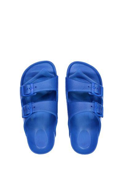 Twin Strap Slide, BRIGHT BLUE