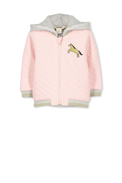 Lucy Bomber Hooded Jacket, SEA PINK