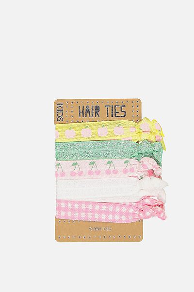 Knot Messy Hairties, GINGHAM FRUIT