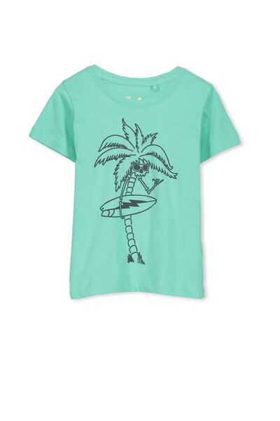 Max Short Sleeve Tee, COOL MINT/SURFER PALM