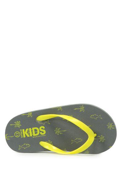 Printed Flip Flop, B SHARK PALMS