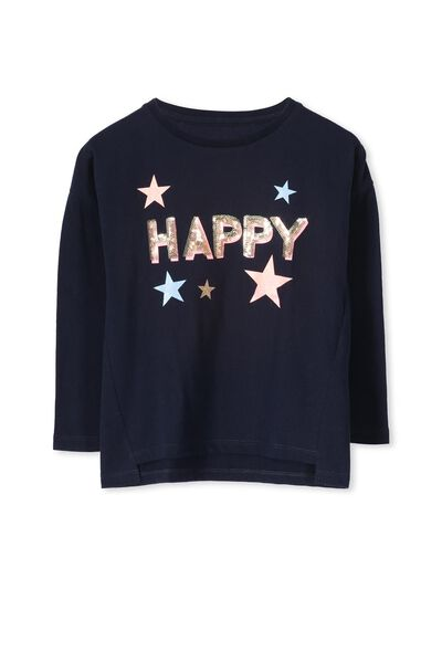 Anna Ls Stepped Hem, TWILIGHT BLUE/HAPPY