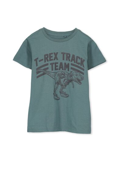 Bass Short Sleeve Tee, ATLANTIC GREEN/TREX TRACK