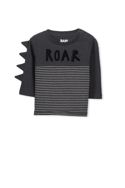 Michael Long Sleeve Tee, PHANTOM/ROAR