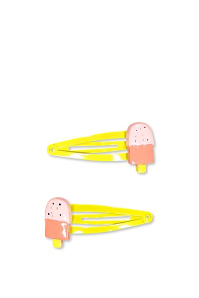 Party Hairclips, YELLOW ICY POLE
