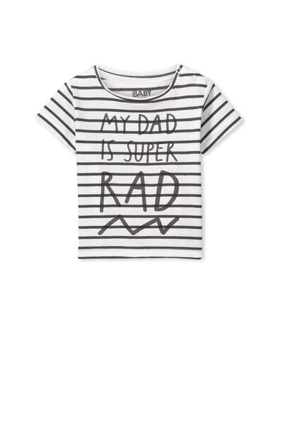 Jake Short Sleeve Tee, STORM GREY STRIPE/DADDYS STAR