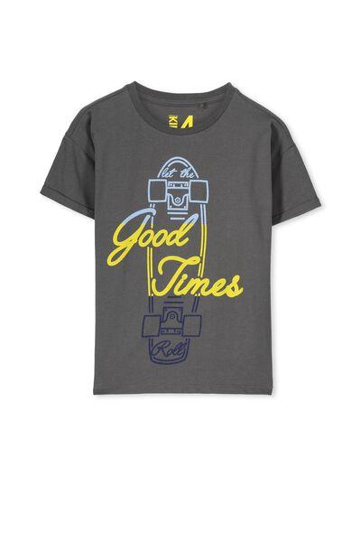 Jonny Short Sleeve Tee, GRAPHITE GREY/GOOD TIMES