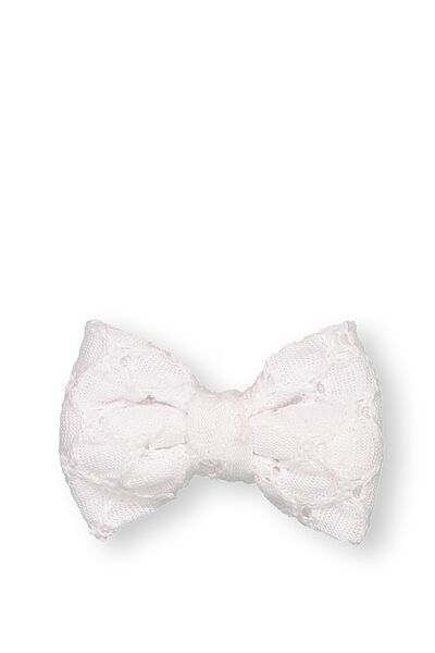 Party Hairclips, BROIDERIE BOW