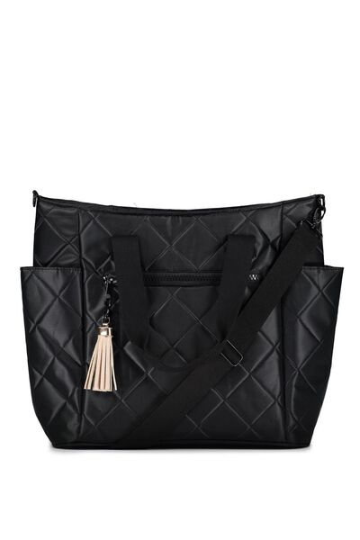 Luxe Baby Bag, BLACK