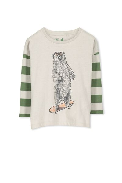 Will Ls Tee, LUNA ROCK/BEAR STRIPE