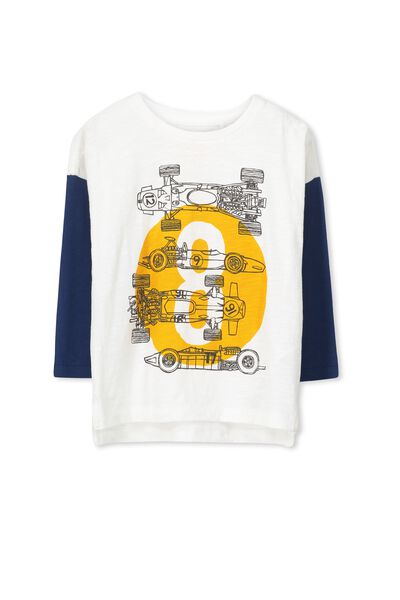 Will Ls Tee, VANILLA/CAPTAIN BLUE MOTOR CAR