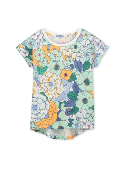 Penelope Short Sleeve Roll Up Tee, EXCLUSIVE BLUE/NEW YORK FLORAL