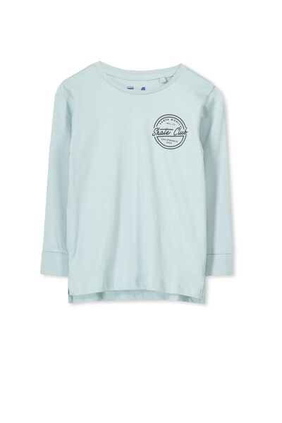 Tom Ls Tee, DUSTY AQUA/SKATE CLUB