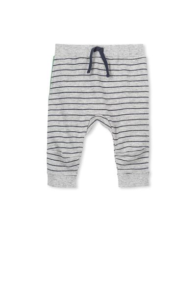 Shelby Trackpant, CHARCOAL MARLE/STRIPE
