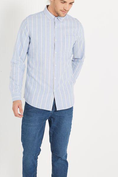 Brunswick Shirt 3, BLUE SPACE STRIPE