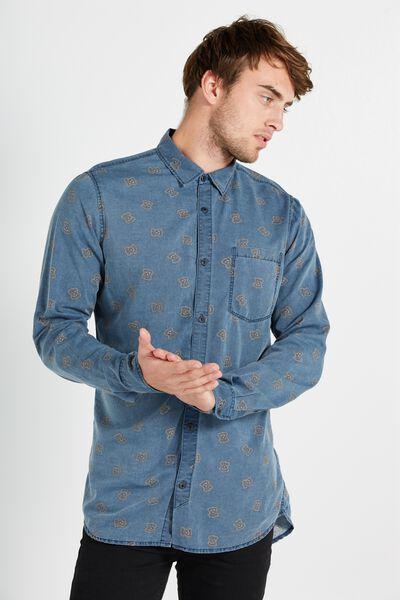 91 Shirt, MID BLUE GEO