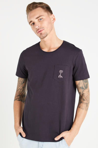 Icon Tee, INK NAVY/SINGLE ROSE