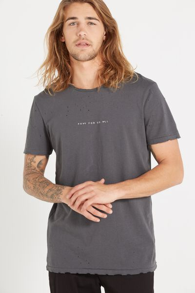 Trainwreck 91 Tee, FADED SLATE/NYC HOMMES