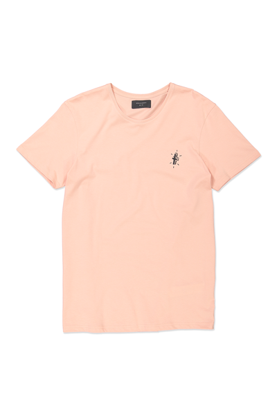 Icon Tee, CORAL PINK/HEADSTONES