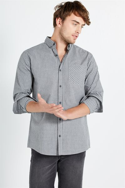 Brunswick Shirt 3, GREY CHECK
