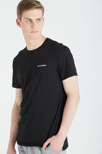 Ae Droptail Tee (Slim Fit), BLACK/ANTI SOCIALITE