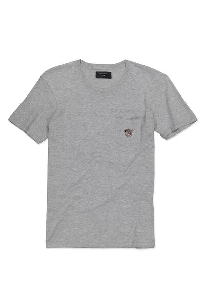 Icon Tee, GREY MARLE/3 EYED PANTHER