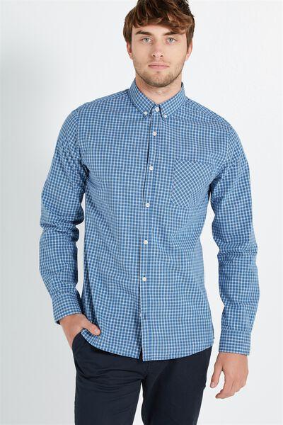 Brunswick Shirt 3, INDIGO CHECK